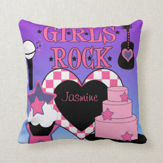 Girls Rock  Pillow