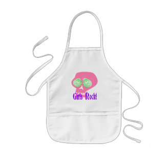 Girls Rock Punk Skull apron