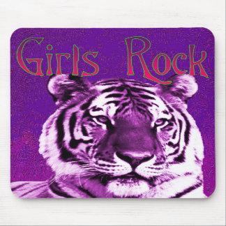 Girls Rock Purple Tiger Mousepad