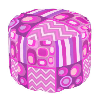 girl's room,colorful fantasy round pouffe