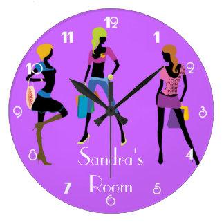 Girl's Room Large Clock