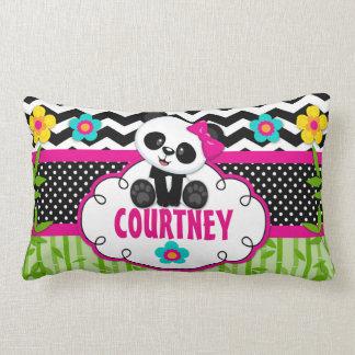 Girls Room Panda Bear Personalized Pillow Cushion