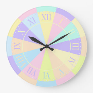 Girl's Room Pretty Pastel Pink and Purple Wall Clocks