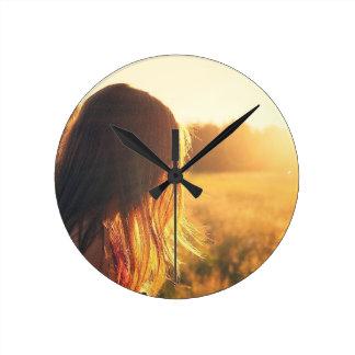 Girl's Room Sunrise Acrylic Clock