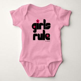 Girls Rule baby Baby Bodysuit