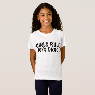 GIRLS RULE BOYS DROOL, Funny Kids T-shirts