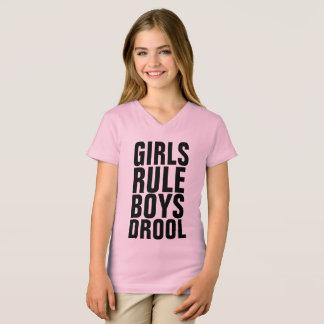 GIRLS RULE BOYS DROOL Kids T-shirts