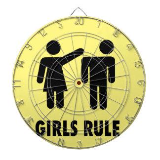 Girls rule dart board