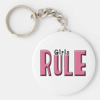 Girls Rule Key Chain