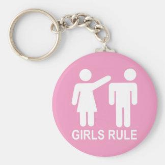 Girls Rule Key Ring