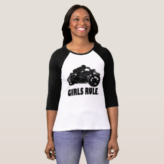 Girls Rule Motorcycle Garments Apparels T-Shirt