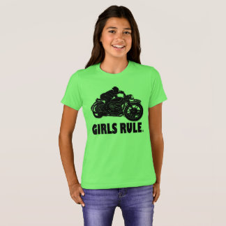 Girls Rule Motorcycle Garments Kids Apparels T-Shirt
