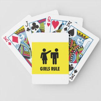 Girls rule poker deck