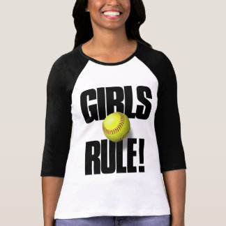 GIRLS RULE! Softball T-Shirt