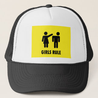 Girls rule trucker hat