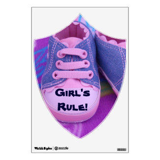 Girl's Rule! wall decals Pink Shoes Baby's room