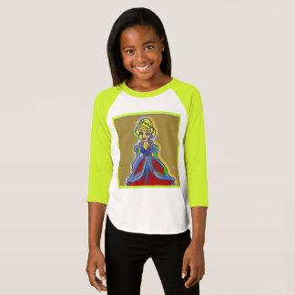 Girls sassy princess multicolored shirt