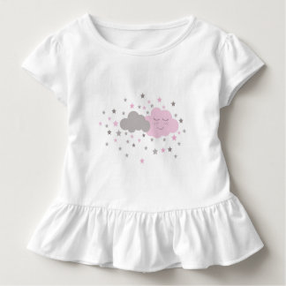 girls shirts with pink and grey clouds ant stars