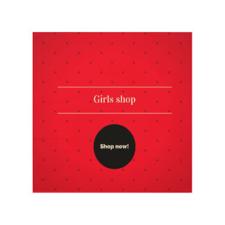 Girls shop : Exclusive wooden Shop sign