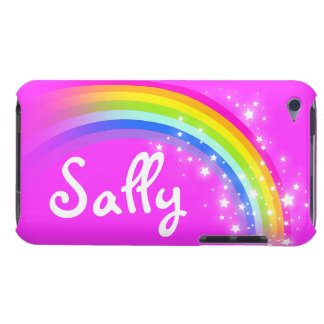 Girls short name rainbow pink kids ipod touch case