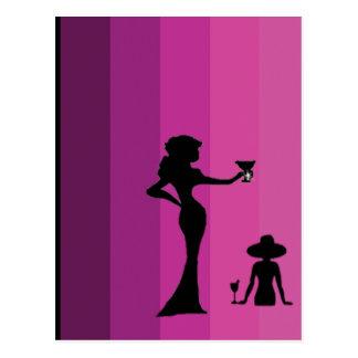 Girl's Silhouette -1 - Postcard