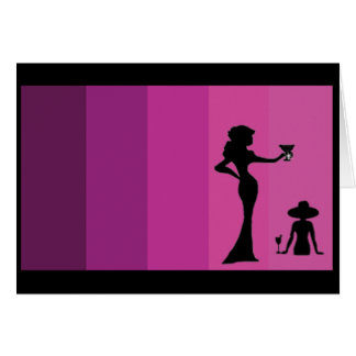 Girl's Silhouette Notecard Greeting Card