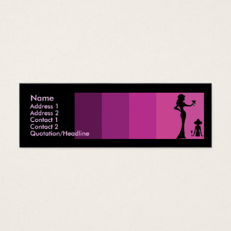 Girls Silhouette Toasting Skinny Mini Business Card