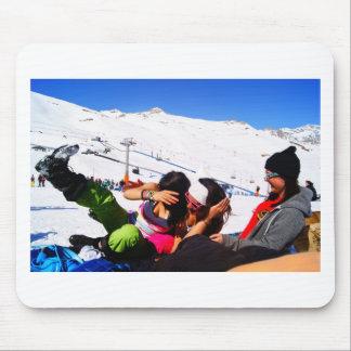 Girls Ski slope Mousepad