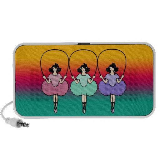 Girls skip rope mini speakers