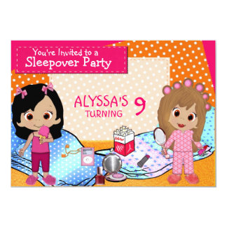 Girls Slumber Party 13 Cm X 18 Cm Invitation Card