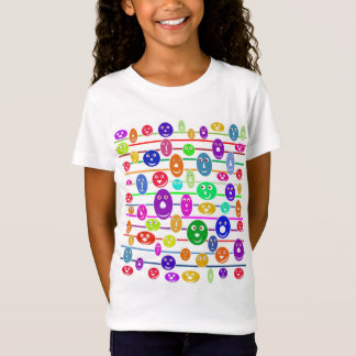 Girls Smiley Faces T-Shirt