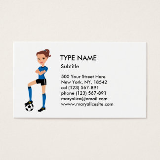 Girl's Soccer Player Calling Card P