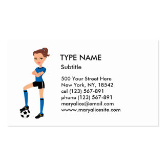 Girl's Soccer Player Calling Card P Pack Of Standard Business Cards