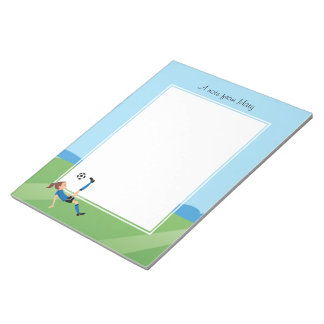 Girl's Soccer Player Notepad