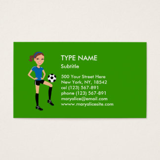 Girl's Soccer Player Personalized