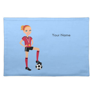 Girl's Soccer Player Placemats