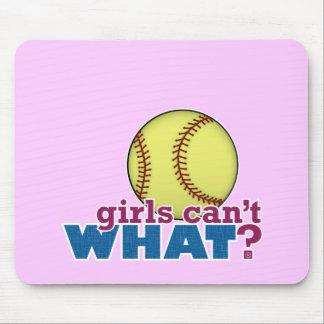 Girls Softball Mouse Pad