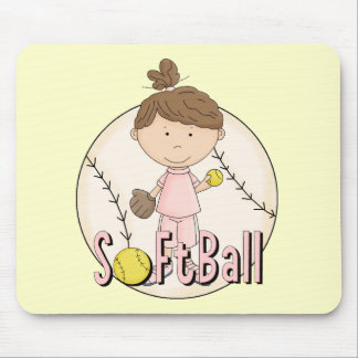 Girls Softball T-shirts and Gifts Mouse Pads