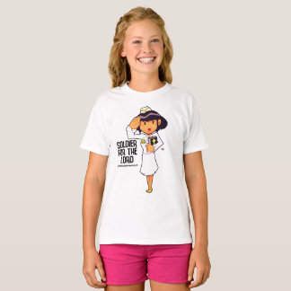 GIRLS SOLDIER OF GOD TEE
