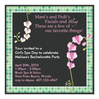 Girl's Spa Day! Personalized Invite