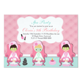 Girls Spa Invitation Pamper party Invite