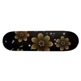 Girls Sparkly Floral Pattern Skate Board Decks