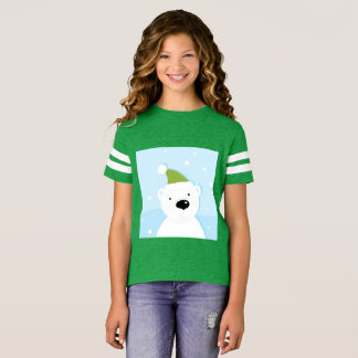 Girls sporty t-shirt with Teddy bear