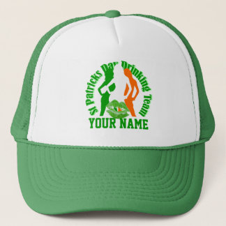 Girls St Patrck's day drinking team Trucker Hat