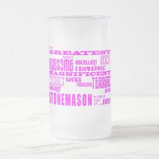 Girls Stonemasons : Pink Greatest Stonemason Beer Mugs