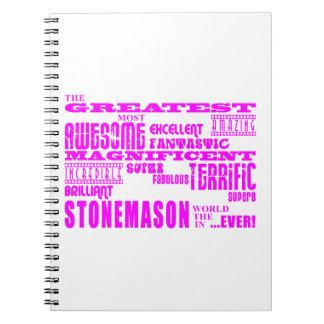 Girls Stonemasons : Pink Greatest Stonemason Journal
