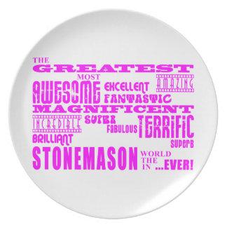Girls Stonemasons : Pink Greatest Stonemason Plate