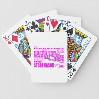 Girls Stonemasons : Pink Greatest Stonemason Bicycle Poker Deck