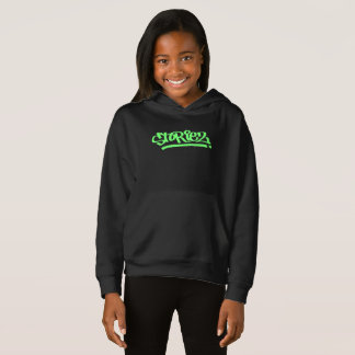 Girls Storiez Hoodie (Lime Green Logo)