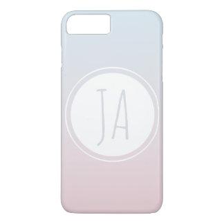 Girl's Stylish Monogram Initials Simple Ombre iPhone 8 Plus/7 Plus Case